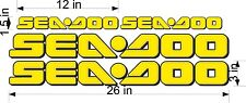 SEA-DOO-YELLOW-3D-LOGO-3x26-DECAL-SET-GRAPHIC-STICKER-PACKAGE, REPLACEMENT