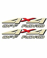 1999 2000 2001 4x4 Off Road Decals for F-250 HD F-350 4WD Super Duty Truck Gold