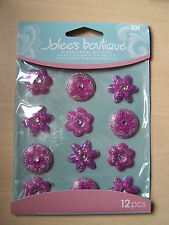JOLEE's / Jolees 3D stickers-cabochons - Viola Fiori A Pois