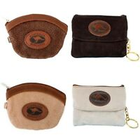 Australian Souvenir Coin Purse Pouch Bag 100% Genuine Suede Leather Australia