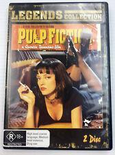 Pulp Fiction Uma Thurman John Travolta DVD PAL R4 2 Disc Set R18+ PAL with Track