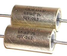 2 Condensateurs PRECIS - Aérospatial NEUFS 4.7uF 2% 63V  FREE SHIPPING