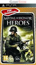 MEDAL OF HONOR HEROES (ESSENTIALS) - PLAYSTATION PSP BRAND NEW FREE DELIVERY