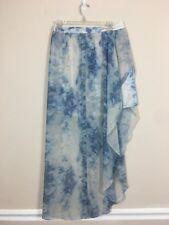 Kimchi Blue Women's Size 10 Multi Color Asymmetrical Hem Zip Back Skirt