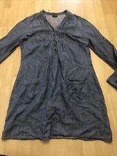 F&F Soft Demim Long Sleeved Tunic Dress Boho Hippie Size 12