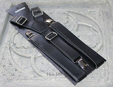 Vintage Pu Leather Adjustable Suspenders,Black,Wedding man,adult,Christmas gift