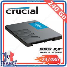 """Disque Dur Interne SSD 240Go 2,5"""" SATA 3 PC Portable Windows MAC 3D NAND Crucial"""