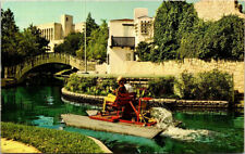 Postcard Paddle Boat on San Antonio River Downtown City View