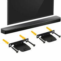 2 PCS Black Wall Brackets for LG SH4 Soundbar