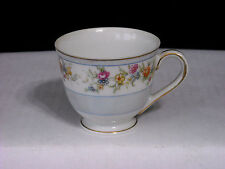 MINT * VINTAGE Yamaka China Occupied Japan Demitasse Cup FLOWERS~GOLD TRIM