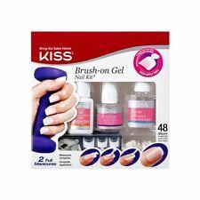 KISS Brush on Gel Nail Kit | White Tips | 48 Short Length Tips