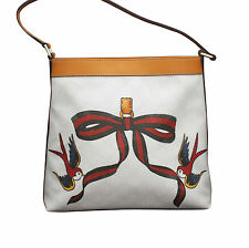 NEW GUCCI GG Plus Canvas Meier Hobo Bag Handbag w/Bird Ribbon Tattoo 254639 9075