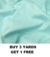 Duck Egg Blue Plain Dyed 100% Cotton Poplin Crafts Dress-making Fabric Material