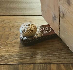 Brown Door Stop With Wooden Knob Doorstop Door Wedge Weight Home Decor Ornament