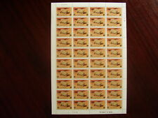 TANZANIA 1977 ENDANGERED SPECIES Issue SHEET of 40 MNH  value 50 cents..