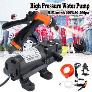 100W 12V 160Psi Car High Pressure Diaphragm Self Priming Water Pump 5.5Lpm UK