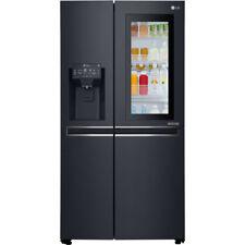 LG GSX960MTAZ InstaView™ Door-in-Door™ Frost Free American Fridge Freezer - Matt Black