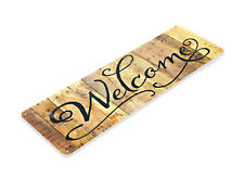 """TIN SIGN """"Welcome Script"""" Metal Decor Wall Art Store Cafe Shop Cottage B011 #"""
