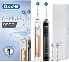 Oral-B Genius 9900 Elektrische Zahnbürste Rosegold + Schwarz 2 Handstücke Etui