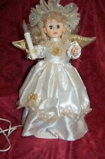 """Animated Lighted Christmas Angel Motion Doll Noel, Holiday Creations, 1996. 25"""""""