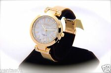 Luxury Gold Watch with Mother of Pearl Dial & Crystal Accented Design 30M-WR