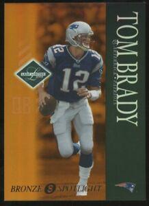 2003 Leaf Limited Bronze Spotlight Tom Brady New England Patriots 66/150
