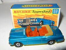 Matchbox Superfast No.69 ROLLS ROYCE SILVER SHADOW 'YELLOW' BASE - RARE - MIB