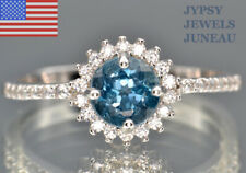LONDON BLUE TOPAZ FINE GEMSTONE RING SIZE 6