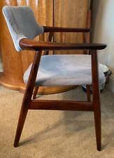 Retro Vintage Danish Erik Kirkegaard Rosewood Side Desk Chair Armchair 50s MCM