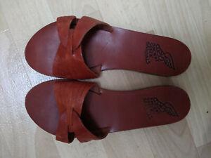 Ancient Greek Sandals, Brown, Size 39