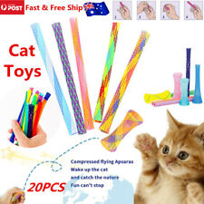 20PCS Interactive Cat Toys Kitty Boinks Pack Active Fun Chase Tubes AU