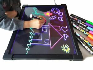 Sensory LED Drawing Board Kid's Writing Toy Autism ADHD Light Up Glow Art Pen