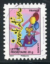 TIMBRE FRANCE AUTOADHESIF OBLITERE N° 342 / TIMBRE POUR INVITATION