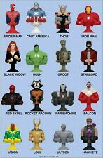 MARVEL MANIA MICROPOPZ SUPER HEROES COMPLETE SET OF 16 Hulk IronMan