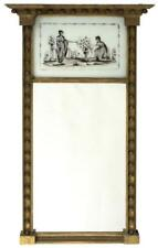 Federal Gilt Mirror Cornice top with fifteen ball drops. Upper silve. Lot 1304