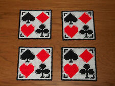 CARD SUITS COASTERS - SET 4   (NEW)