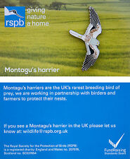 RSPB Pin Badge | Montagu's Harrier | Illustrated card [01184]