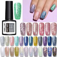 LEMOOC 8ml Vernis à ongles UV Gel Briller Paillettes Nail Art UV Gel Polish