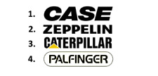 Sticker, aufkleber, decal - CASE, ZEPPELIN, CATERPILLAR, PALFINGER  50 70 100 cm