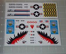 GI Joe Tiger Force Tiger Rat Sticker Decal Sheet