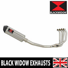 KAWASAKI ZRX 1200 Full Exhaust System Oval Stainless/Carbon Tip Silencer 300ST