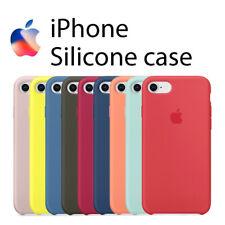Funda SILICONA para iPHONE 7 / 8 SE 2020 / PLUS forro microfibra máxima calidad