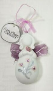 """AppleTree Design Angel with Heart ~ Heaven & Earth Ornament 3"""""""