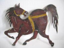 VINTAGE OLD IRON HORSE WEATHER VANE WEATHERVANE OPEN WORK .