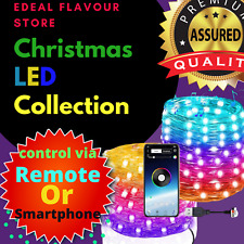 Christmas Tree Decorations LED Lights String Smart Bluetooth App Remote Control