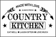 Reusable Adhesive Silkscreen Stencil MADE WITH LOVE ALWAYS FRESH COUNTRY KITCHEN