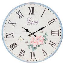Clayre&Eef VINTAGE Horloge Murale Nostalgie Montre style maison de campagne
