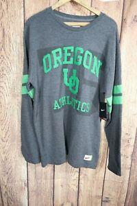 Nike Oregon Ducks Throwback Retro Long Sleeve Thermal Shirt Mens L NWT College