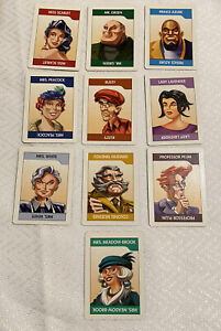 Clue DVD Board Game Replacement Parts Pieces 10 Suspect Cards Complete Set