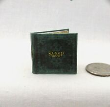 SCRAP BOOK Dollhouse Miniature Book 1:12 Scale Book Vintage Photos Photo Album